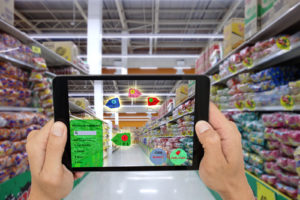 Augmented Reality AR Retail Marketing Example Can also work for Virtual Reality VR marketing example