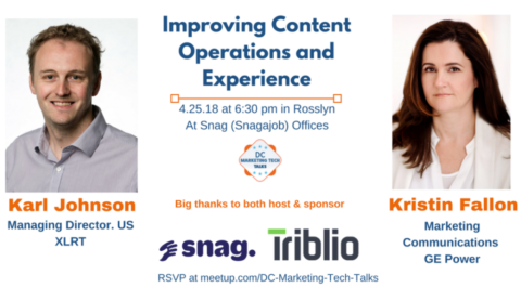 DC Marketing Tech Talks: Improving Content Operations and Experience