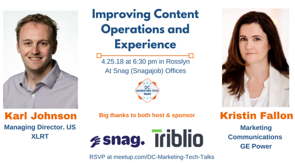 Improving Content Operations and Experience - DC Marketing Tech Talks April 2018