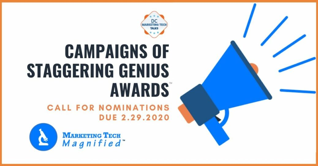 Image for call for nominations forbest marketing campaign of 2019;